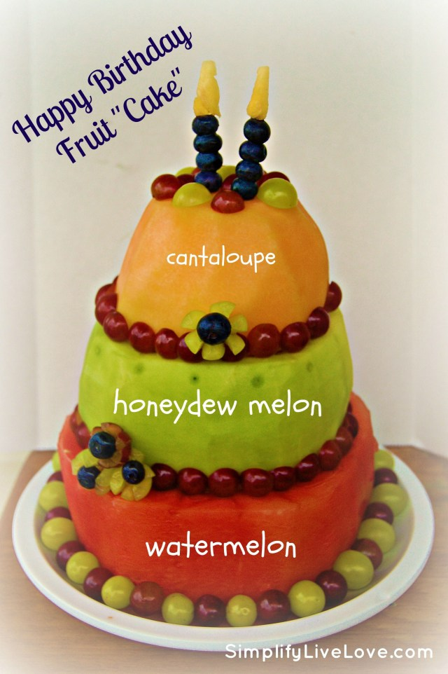 Happy Birthday Gloria Cake Happy Birthday Fruit Cake A Tutorial How To Make A Cake Out Of