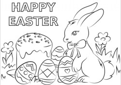 Happy Easter Coloring Pages Happy Easter Coloring Pages The Amazing And Also Stunning With 1024