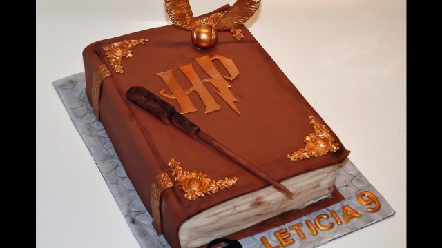 Harry Potter Birthday Cakes Cake Decorating Tutorials How To Make A 3d Harry Potter Book Of