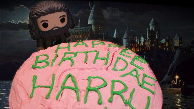 Harry Potter Birthday Cakes Diy Hagrids Birthday Cake From Harry Potter Youtube