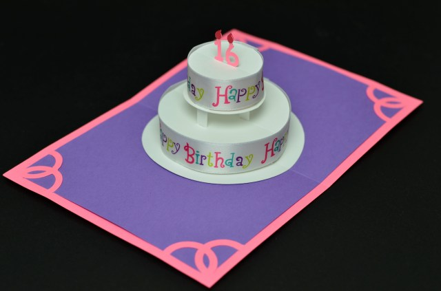 How To Make Birthday Cake Pops Round Pop Up Card With Happy Ribbon