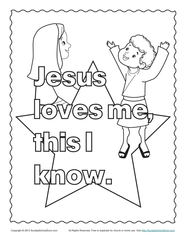 Jesus Loves Me Coloring Page Jesus Loves Me Coloring Page Topsailmultimedia
