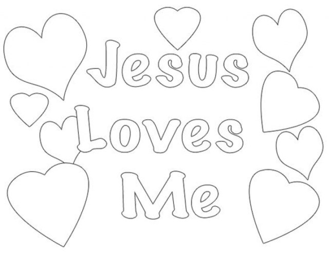 Jesus Loves Me Coloring Page Jesus Loves Me Coloring Pages Printables God And Wuming