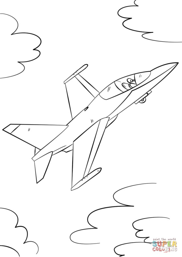 Jet Coloring Pages Military Fighter Jet Coloring Page Free Printable Coloring Pages