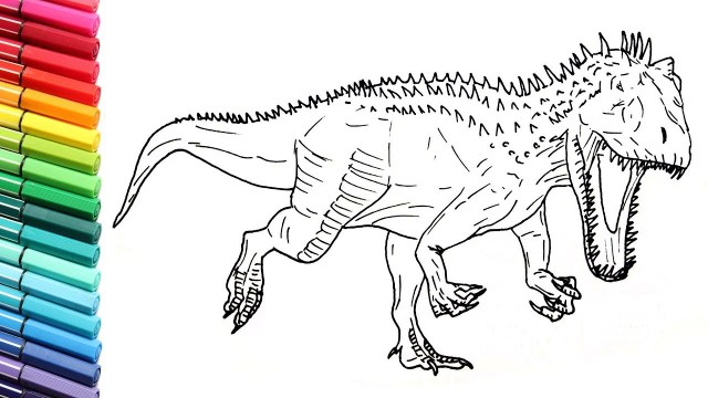 Jurassic World Coloring Pages Drawing And Coloring Indominus Rex From Jurassic World Draw