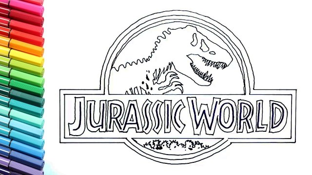 Jurassic World Coloring Pages Drawing And Coloring Jurassic World Logo Dinosaurs Color Pages For