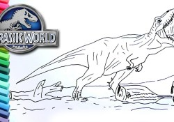 Jurassic World Coloring Pages Jurassic World Fallen Kingdom Drawing And Coloring Dinosaur Trex