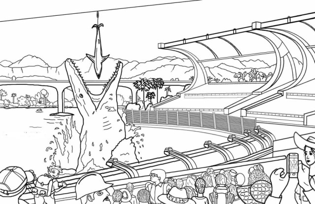 Jurassic World Coloring Pages Printable Jurassic World Coloring Pages For Kids