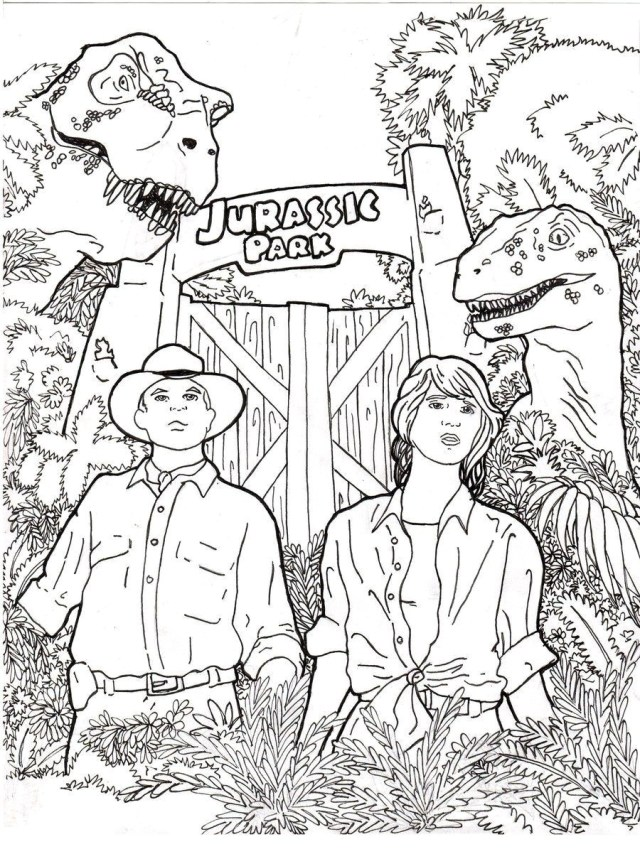 Jurassic World Coloring Pages Printable Jurassic World Coloring Pages Park Coloringstar Pa