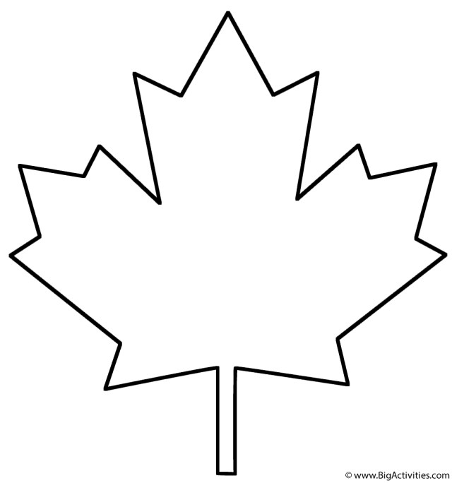 Leaf Coloring Page Maple Leaf Coloring Page Plants