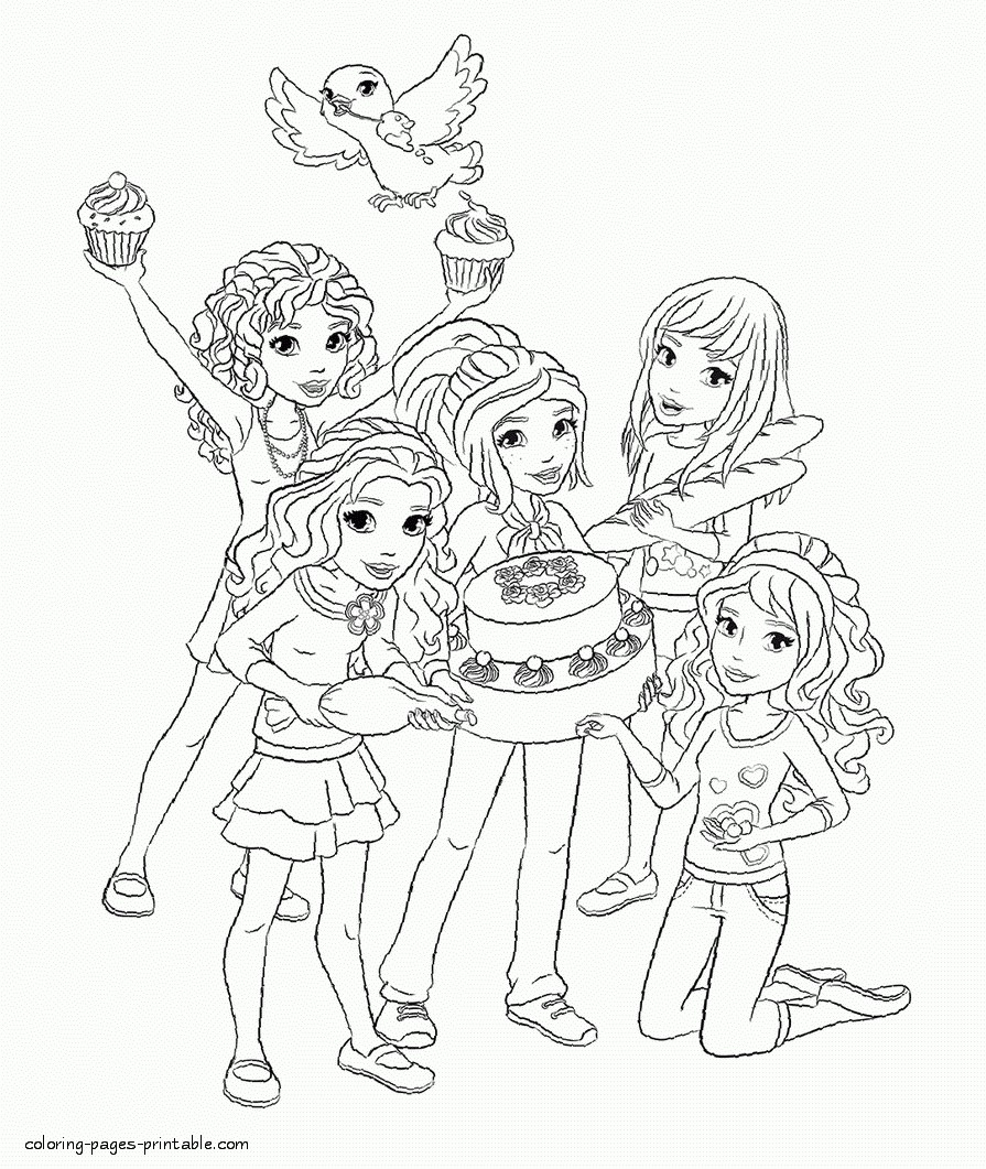25 brilliant image of lego friends coloring pages