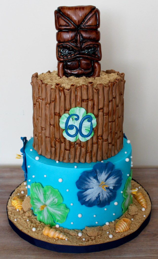 Luau Birthday Cakes Hawaii Hawaiian Themed Cake Tropical 60th Larrys