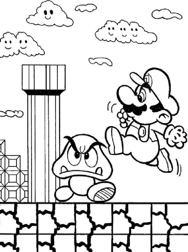 21+ Excellent Picture of Mario Coloring Pages - entitlementtrap.com