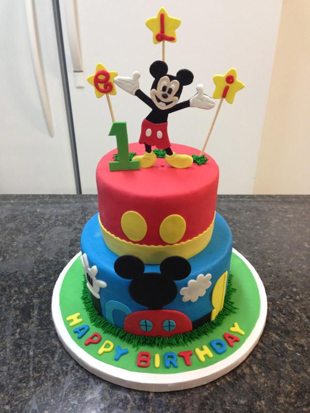 Mickey Mouse 1St Birthday Cake Mickey Mouse 1st Birthday Cake Cakecentral