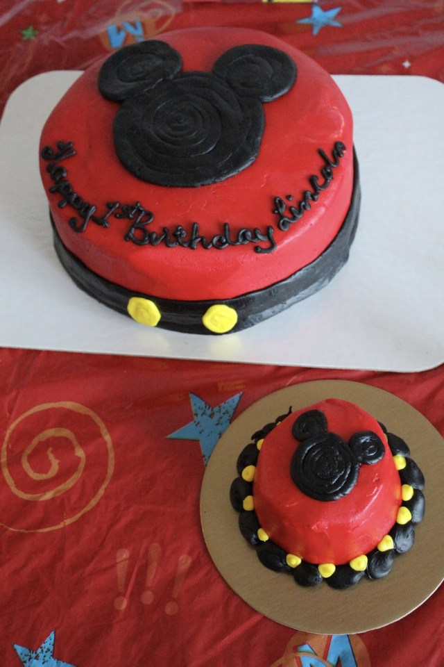 Mickey Mouse 1St Birthday Cake Mickey Mouse 1st Birthday Party Stilettos Diapers