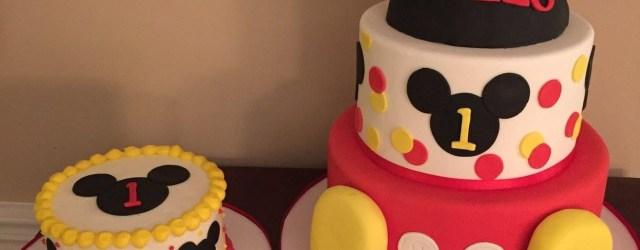 Mickey Mouse 1St Birthday Cake Mickey Mouse Club House First Birthday Cakes Calynne Kaden 1st