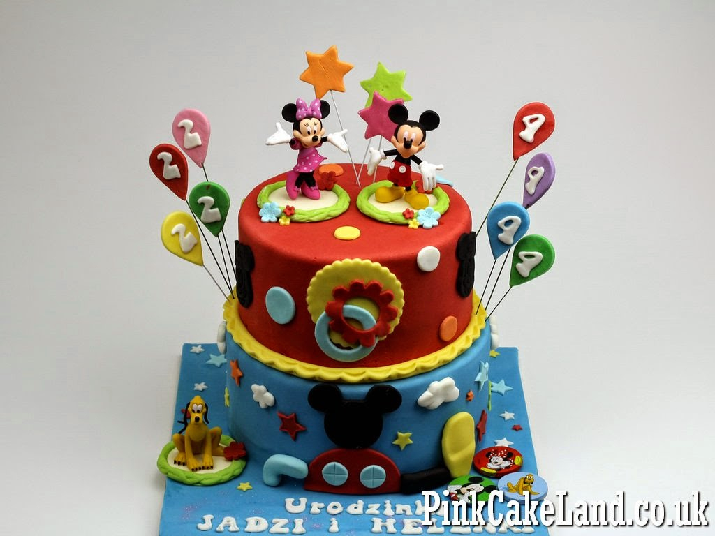 Mickey Mouse Clubhouse Birthday Cake Mickey Minnie Mouse Cakes