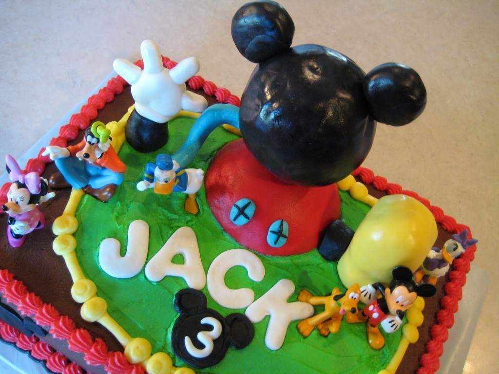 Mickey Mouse Clubhouse Birthday Cake Design Ideas Classic Style