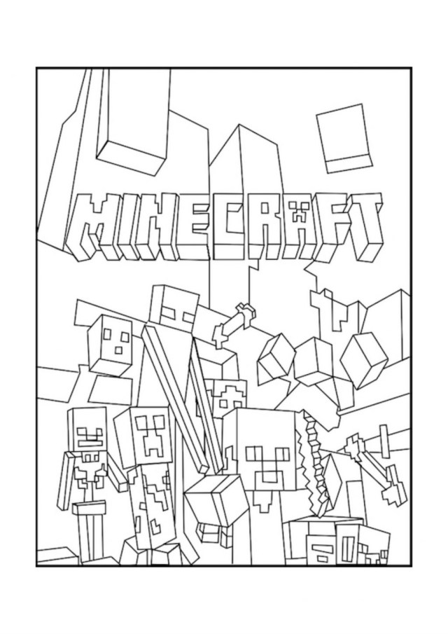 Mine Craft Coloring Pages Coloring Pages Marvelousee Minecraft Coloring Pages Of Ender