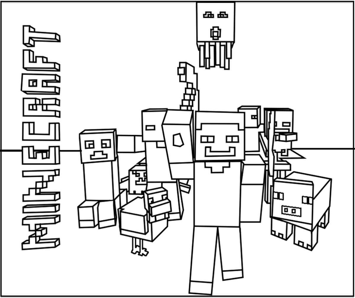 Mine Craft Coloring Pages Minecraft Free To Color For Kids Minecraft Kids Coloring Pages