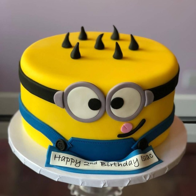 Minion Birthday Cake 2nd Birthday Cake Of Minions Hd Image The Ask Idea