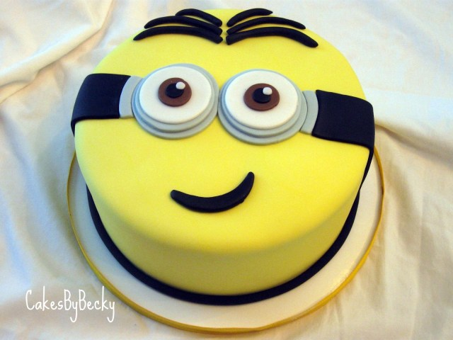 Minion Birthday Cake Cakes Becky Minion Birthday Cake
