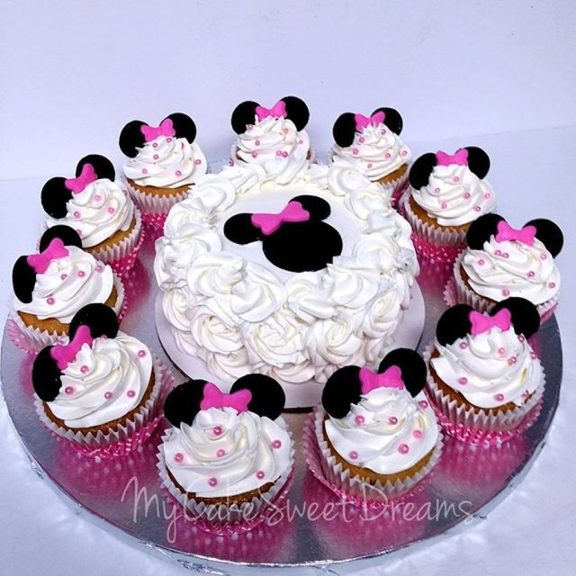 Minnie Mouse Cakes 1St Birthday Minnie Mouse 1st Birthday Smash Cake Cupcakes Cakecentral