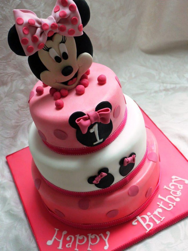 Minnie Mouse Cakes 1St Birthday With Cupcakes Set At Walmart