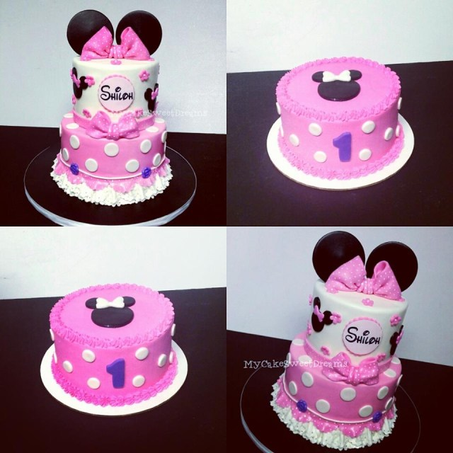 Minnie Mouse Cakes 1St Birthday Mycakesweetdreams Minnie Mouse 1st Birthday Cake