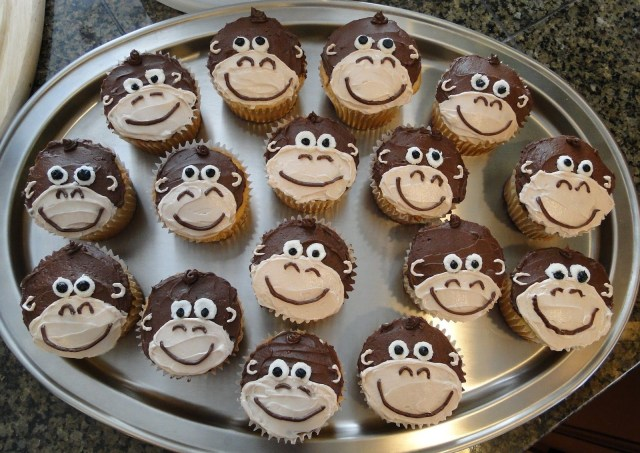 Monkey Birthday Cake Image Detail For Kiddo Project Kids Birthday Party Cupcake Ideas