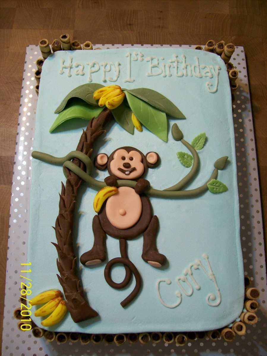 Monkey Birthday Cake Monkey Cakes Decoration Ideas Little Birthday Cakes