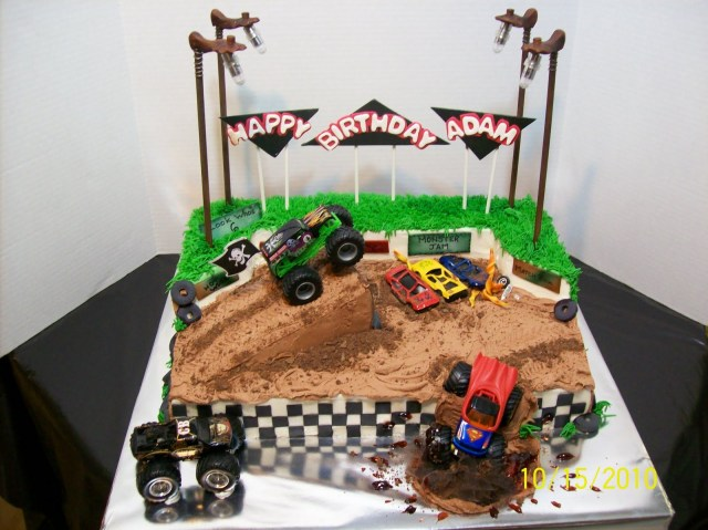 Monster Truck Birthday Cake Monster Truck Cakes Decoration Ideas Little Birthday Cakes