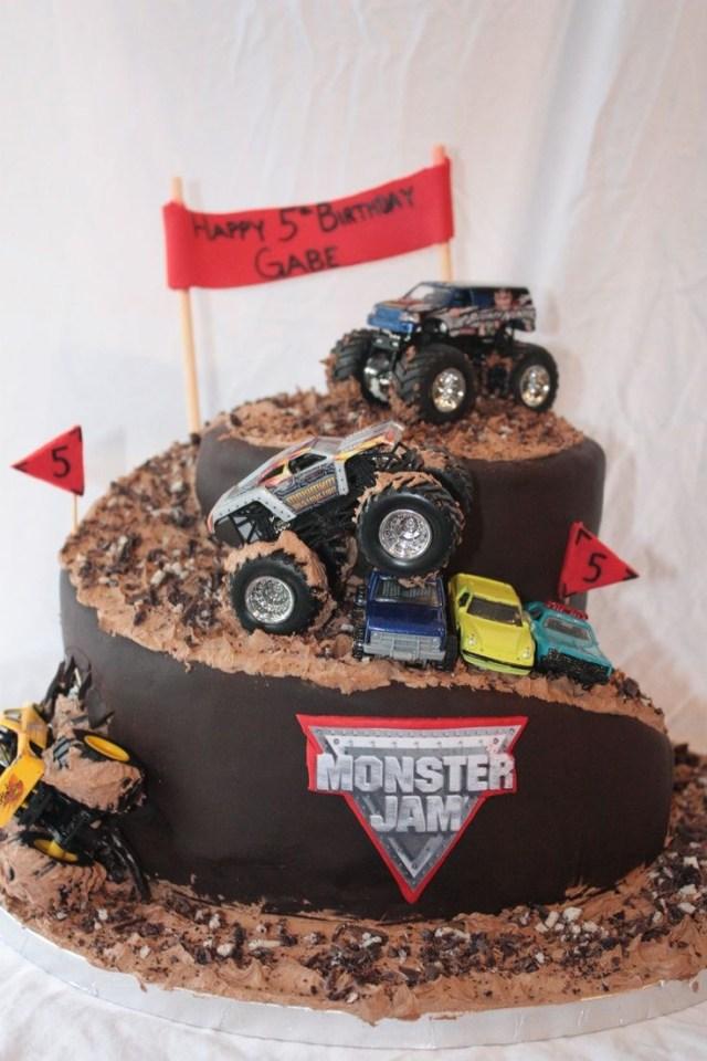 Monster Truck Birthday Cake Monster Truck Cakes Monster Truck Cake Hunters 4th Birthday