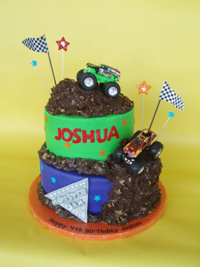 Monster Truck Birthday Cake Monster Truck Jam Birthday Cake Four Year Old Joshua Celeb Flickr