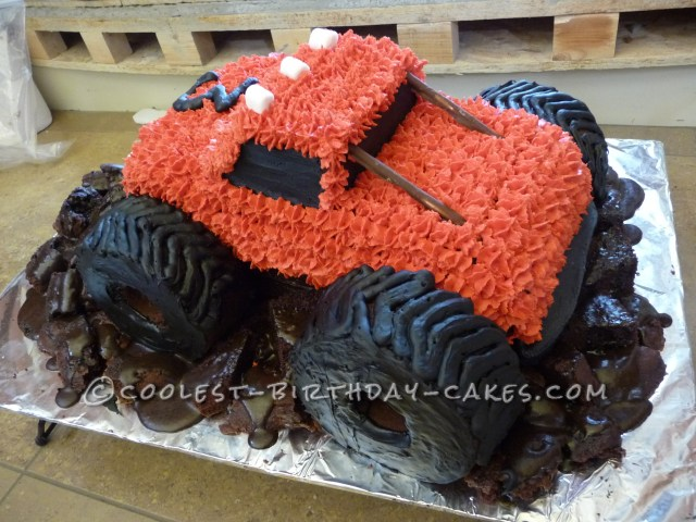 Monster Truck Birthday Cake Muddy Monster Truck Birthday Cake
