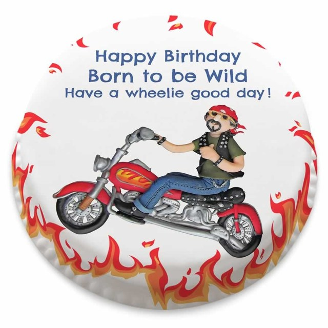 Motorcycle Birthday Cakes Personalised Motorbike Themed Birthday Cake From 1499 Bakerdays