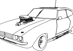 Muscle Car Coloring Pages Muscle Car 70 Old Sport Car Coloring Page Wecoloringpage