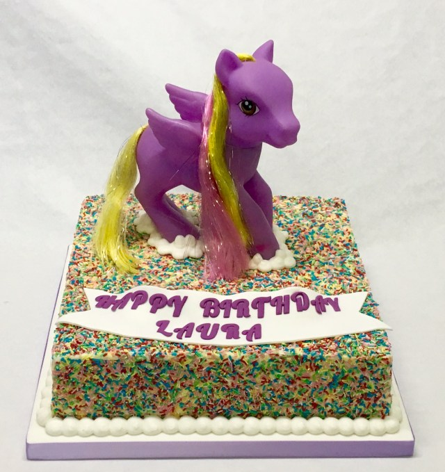 My Little Pony Birthday Cake Ideas 10 Square Rainbow Sprinkles My Little Pony Cake Childrens