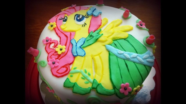 My Little Pony Birthday Cake Ideas Fluttershy My Little Pony Birthday Cake Youtube