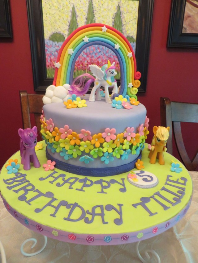 My Little Pony Birthday Cake Ideas My Little Pony 5th Birthday Cakecentral