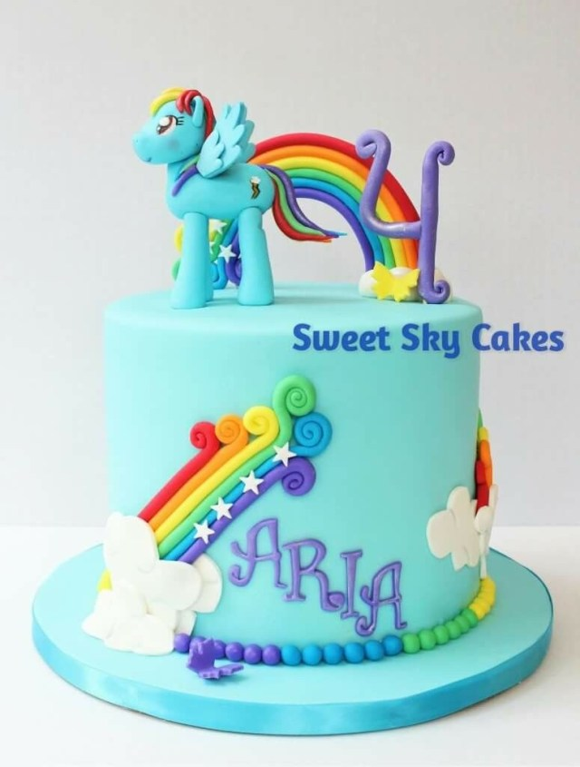My Little Pony Birthday Cake Ideas Rainbow Dash Cake Rainbow Cake Girls Birthday Cake My Little Pony