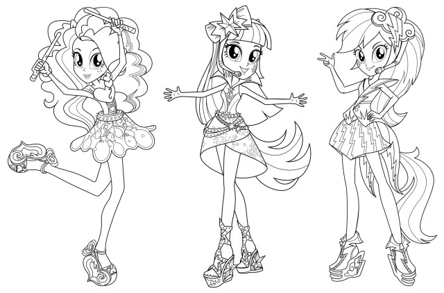 My Little Pony Equestria Girl Coloring Pages My Little Pony Equestria Girl Coloring Pages To Print At Getdrawings