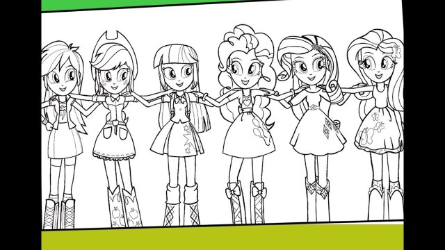 My Little Pony Equestria Girl Coloring Pages My Little Pony Equestria Girls Coloring For Kids Mlp Coloring Pages
