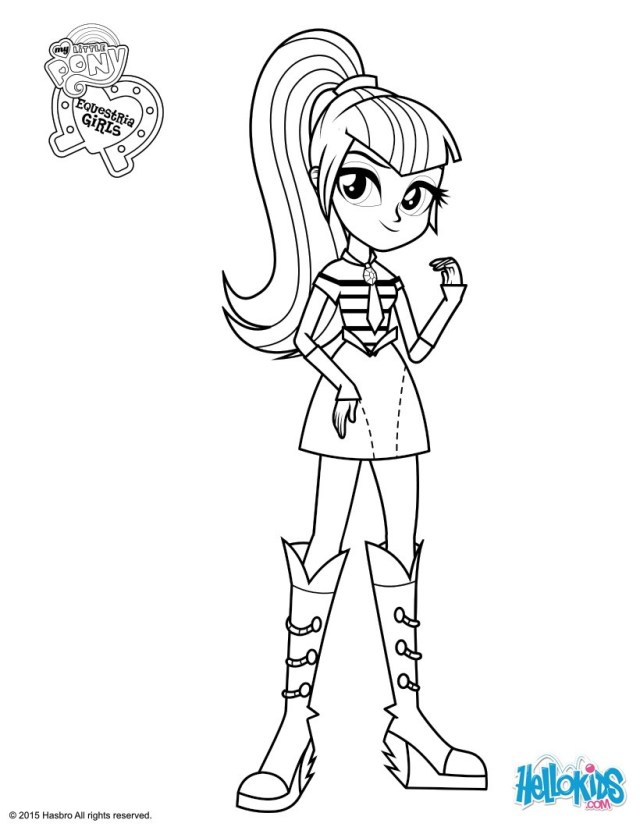 My Little Pony Equestria Girl Coloring Pages Sonata Dusk Coloring Pages Hellokids