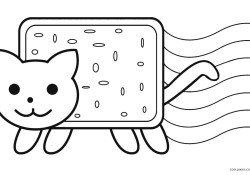 Nyan Cat Coloring Pages Nyan Cat Coloring Pages 13 Coloring Pages Of Cats Anyingmei