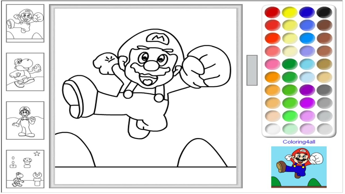 Online Coloring Pages For Kids Super Mario Online Coloring Pages ...
