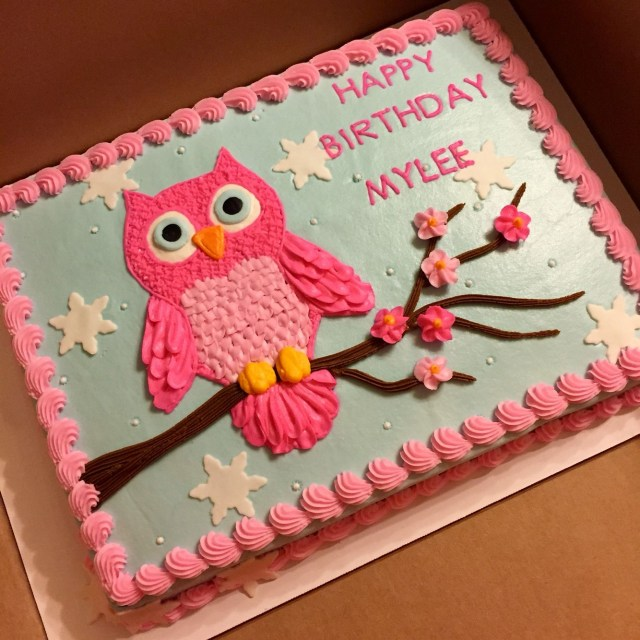 Owl Birthday Cake Owl Cake Done With Buttercream Decorations