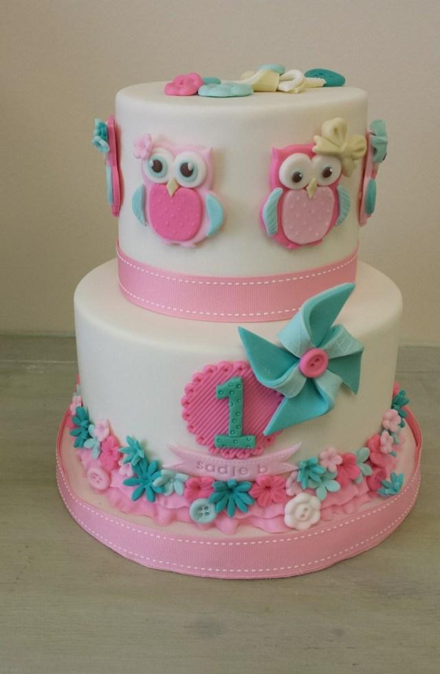 Owl Birthday Cake Owl Themed Birthday Cake Cakecentral