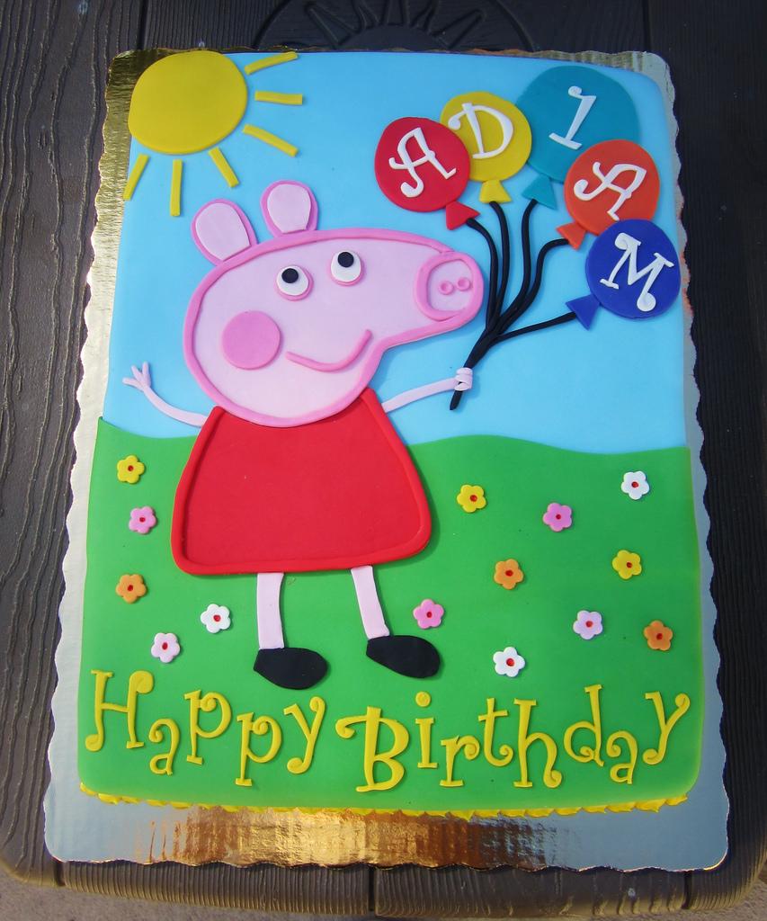 Peppa Pig Birthday Cake Peppa Pig Birthday Cake Daniyellee Flickr