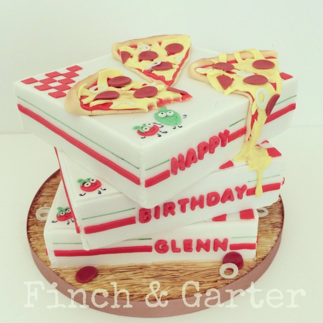 Pizza Birthday Cake Finch Garter Cakes On Twitter Pepperoni Pizza Birthday Cake